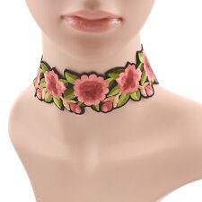 Choker Gothik Blume Stickerei Vintage Halskette Damen Party Schmuck Geschenk
