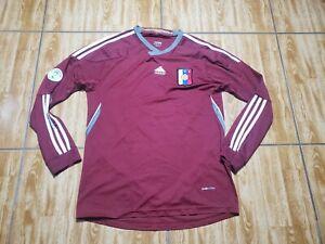 Adidas Venezuela Soccer Long Sleeve Jersey Adult Medium Maroon Futbol Mens