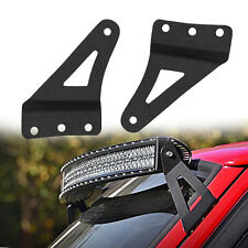 Fit Jeep XJ Cherokee 50 inch curved LED Light Bar Mounting Brackets 1984-2001