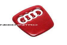 Red Carbon Fiber Steering Wheel Decal Audi A4 S4 A5 S5 Q3 A7 RS S line Quattro