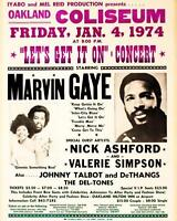 MARVIN GAYE Jan 4, 1974 Concert Poster 8 x 10 Glossy Photo Poster Print