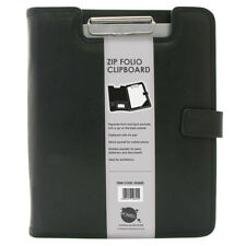 More details for a4 business clipboard portfolio faux pu leather conference document folder file