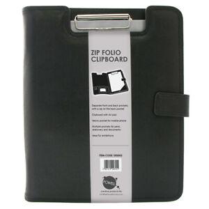A4 Business Clipboard Portfolio Faux PU Leather Conference Document Folder File
