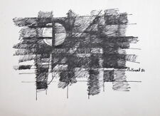 ABSTRACT AVANT GARDE CUBIST ABSTRACT INK DRAWING SIGNED