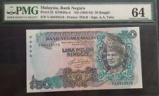MALAYSIA 5TH RM50 VA 0433519 PMG64 UNC