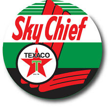 SKY CHIEF TEXACO ROUND SUPER HIGH GLOSS OUTDOOR 4 INCH DECAL STICKER
