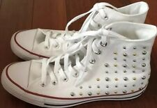 NEW CONVERSE STUDDED WHITE WOMEN'S HIGH TOP FASHION SZ 9 CHUCK TAYLOR'S