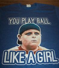 VINTAGE STYLE THE SANDLOT YOU PLAY BALL LIKE A GIRL T-Shirt Baseball XL NEW