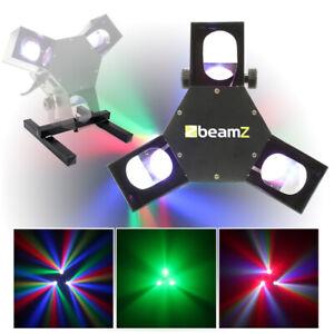Beamz LED DMX Triple Flex Scanner Light Floor Stand Mobile DJ Disco House Party