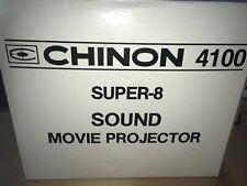 Vintage Chinon 4100 Super 8 Sound Movie Projector In Box