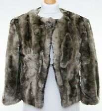 Faux Fur Cropped Bolero Jacket Size 10 UK