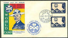 1957 Philippines GIRL SCOUT WORLD CAMP Lord Baden Powell FIRST DAY COVER