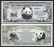 Panda Bear New-Style Million Dollar Bill Collectible Funny Money Novelty Note