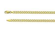 100% 10K Yellow Gold Concave Curb Cuban Link Bracelet 8 inch - 3.9mm Wide