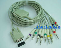 Compatible Fukuda Me KP-500 10-Lead EKG Cable,AHA,Banana4.0mm,15 pins,[CAPT2011]