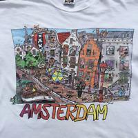 Vintage tee 1989 Amsterdam T-shirt size XL White Graphic Tee