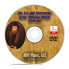 John Foxe's Acts & Monuments, Book of Martyrs, Audiobook + Original PDF DVD F30