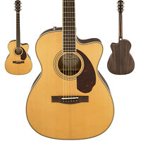 Fender PM-3 Standard Triple-0 Natural Finish Acoustic Electric Guitar With Case!
