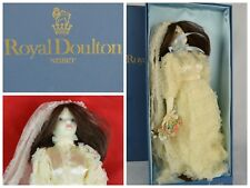 """Vtg Royal Doulton Nisbet """"Wedding Day"""" Porcelain Doll In Box With Stand"""