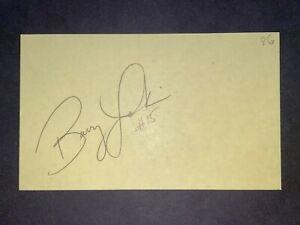 REDS HOF: Barry Larkin, SIGNED 3x5 (BSJ)