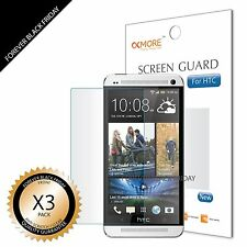 3x Anti-Scratch HD Clear Screen Protector Cover Guard For HTC One M7