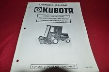 Kubota F1089 Enclosure for F2000 Tractor Operator's Manual Chpa