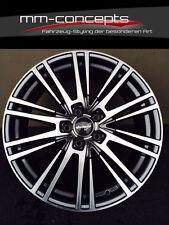 4 Wheelworld WH18 Felgen 8.5x19 Zoll 5x112 et45 grau chrom poliert Alu Gutachten