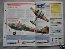 Aircraft of the World Card 13 , Group 13 - Mitsubishi Ki-46 'Dinah'