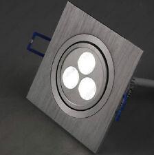 9W(3*3W) LED Ceiling Recessed Spot Light Fixture Square Lamp Showcase Exhibition