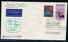 62270) LH FF Düsseldorf - Bukarest 15.7.68, Brief ab Berlin