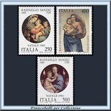 1983 Italia Repubblica Natale Raffaello n. 1656/1658 **