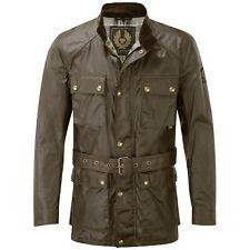 Belstaff Roadmaster Wax Jacket Trialmaster Leather Olive Green UK 38 IT 48
