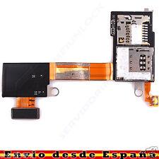 CABLE FLEX TARJETA LECTOR SIM Y MICRO SD PARA SONY XPERIA M2 D2303 D2305 D2306