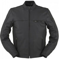 Furygan Dany Soft Leather Jacket Motorcycle Motorbike Black Retro SALE L 3XL