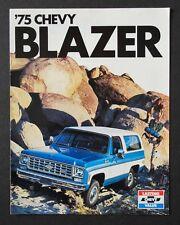 1975 75 Chevy Chevrolet Blazer Truck NOS Dealer Sales Brochure Handout Specs