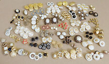 Lot 200+ Pieces of Vintage Mixed Faux Metal/Faux Stone Buttons _Crafts Sewing
