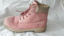 Timberland Classic Boots Pink Girls High Top Suede Leather UK Size UK 6 / 39