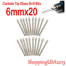 20X 6mm Carbide Tip Drill Bit tool hole saw Set Alloy Mirror Glass Ceramic Tile*