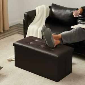 Foldable Large Storage Ottoman Bench Foot Rest Stool/Seat - 30 x 15 x 15""