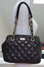 Kate Spade Black Leather Quilted Multi-Pocket Chain Strap Shoulder Bag