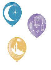 6 X Eid Ramadan Ballons Fête Célébration Aecorations Assortiment de Couleurs