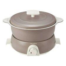 SALE Recolte RPD-3 Electric Multi Cooker POT DUO Fete Gray Japan EMS