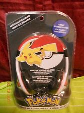 Pokemon stereo Kids Headphones Volume Control NEW Padded Over Ears Adjustable