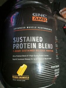 GNC AMP Sustained Protein Blend.