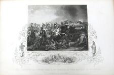 BRITISH ARMY LIFE GUARDS CALVARY BATTLE OF WATERLOO ~ 1853 Art Print Engraving