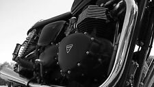 Triumph Motorcycle Poster. Bonneville and Thruxton. Engine Photography.