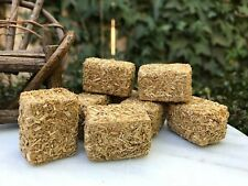 Miniature Fairy Garden Truck Tractor Farm Trailer ~ Set of 8 Mini Hay Bales