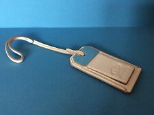 NEW TOD'S Satchel Charm Fob Key Chain Hang Tag Light Pink Nude Leather Silver