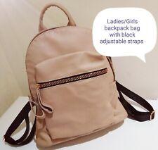 Ladies ATMOSPHERE Peach FAUX LEATHER BACKPACK BAG