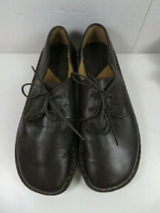 BORN W2825 Women's Size 9 Brown Leather Lace Up Padded Walking Comfort Shoes